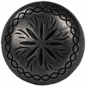 """NB-1899 Dark Silver  Engraved Upholstery Tack 7/8"""" 10/Pack"""