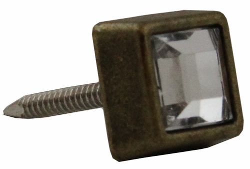 "NB-20553 Brass Bronze Diamond Stud 3/8"" 10/Pack"