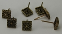 NB-20566 Brass Bronze 1/2'' Square Floral Upholstery Tack 10/Pack