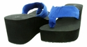 "New Gino-4 Women's Flip Flop 2-3/4"" Heel - Blue"