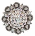 200867859 Rhineston Belt Buckle Crystal AB