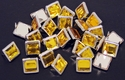 "NH-188 Amber  3/8"" Synthetic Crystal Gem Square Spots 10/pk"