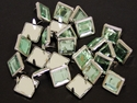 "NH-188 Green  3/8"" Synthetic Crystal Gem Square Spots 10/pk"
