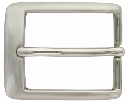 "Nickel Brushed Bow Curved Style Belt Buckle 1-1/4"" A1136-NB"