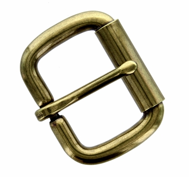 "P2662-10 OEB Antique Brass Roller Belt Buckle 1-1/2"" (38mm)"