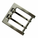 "P4184 Nickel Brush Roller Belt Buckle fit's 1-3/8"" (35mm)"