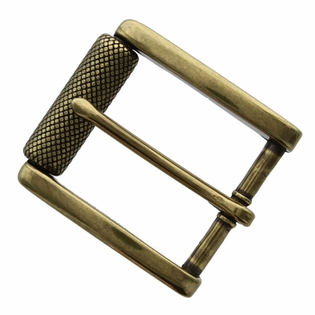"P4316-1 Antique Brass Roller Belt Buckle fit's 1-1/2"" (38mm)"