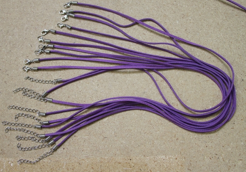 Purple Suede Leather Necklace Cords