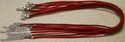 Red Suede Leather Necklace Cords