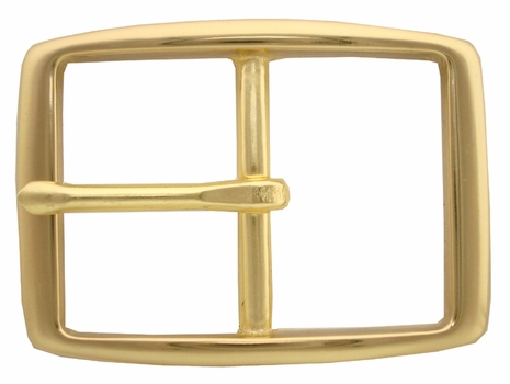 "S002B 1 1/2"" BOC Solid Brass Belt Buckle"