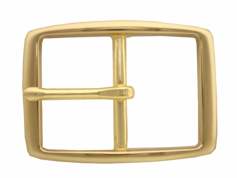 "S002B 1"" BOC Solid Brass Belt Buckle"