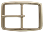 "S002B 1"" NP Solid Brass Polished Nickle Finish Belt Buckle"