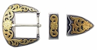 "S5359 ASAG  1 1/2"" 38MM Belt Buckle Set"