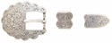 "S5400 LASRP 3/4"" Western Scallop Belt Buckle Set"