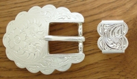 "S5400 SP 3/4"" 19MM Western Engraved Belt Buckle ,Loop Set"