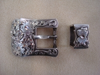 "S5401-B 3/4"" Buckle, Loop W/ Clear Rhinestones"