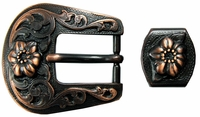 S5445-1 COPPER BUCKLE, LOOP SET 3/4""