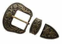"S5521 OEB Antique Brass 1 1/2"" 38MM Belt Buckle Set"
