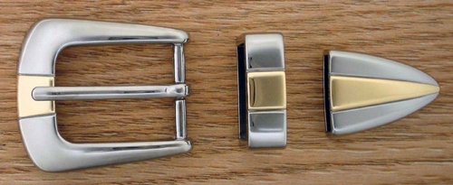 "S6096 NPGP 25MM 1"" Belt Buckle Set"