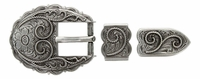 "S6747 LASRP 3/4"" Western Scallop Rope Edge Belt Buckle Set"