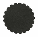 Saddle Leather Rosettes Conchos Leather Concho Black 3""