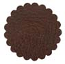 Saddle Leather Rosettes Conchos Leather Concho Brown 1-1/2""