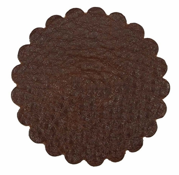 Saddle Leather Rosettes Conchos Leather Concho Brown 3""
