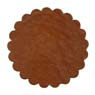 Saddle Leather Rosettes Conchos Leather Concho Tan 1-1/2""