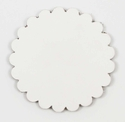 Saddle Leather Rosettes Conchos Leather Concho White 3""