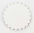 Saddle Leather Rosettes Conchos Leather Concho White 2""