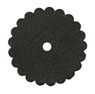 Saddle Leather Rosettes Conchos With Hole Black 1-1/2""