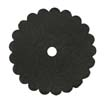 Saddle Leather Rosettes Conchos With Hole Black 1-3/4""