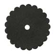 Saddle Leather Rosettes Conchos With Hole Black 2""
