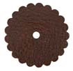 Saddle Leather Rosettes Conchos With Hole Brown 1-3/4""