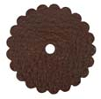 Saddle Leather Rosettes Conchos With Hole Brown 3""
