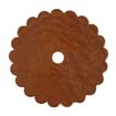 Saddle Leather Rosettes Conchos With Hole Tan 1-3/4""