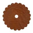 Saddle Leather Rosettes Conchos With Hole Tan 2""