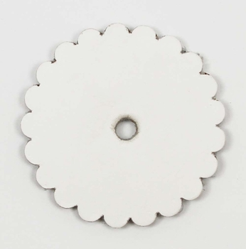 Saddle Leather Rosettes Conchos With Hole White 1-3/4""