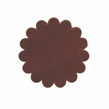 "Saddle Leather Scalloped Concho Rosettes No Hole 1-1/2"" - Burgundy"