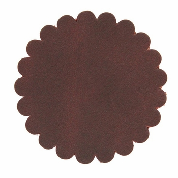 "Saddle Leather Scalloped Concho Rosettes No Hole 2"" - Burgundy"