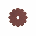 "Saddle Leather Scalloped Concho Rosettes with Hole 1-1/4"" - Burgundy"