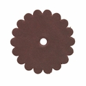 "Saddle Leather Scalloped Concho Rosettes with Hole 1-3/4"" - Burgundy"