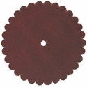 "Saddle Leather Scalloped Concho Rosettes with Hole 3"" - Burgundy"