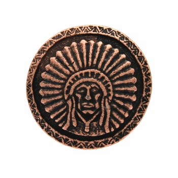 SC-581 Copper Round Headdress Concho 1-1/2""
