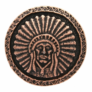 SC-582 Copper Round Headdress Concho 1-3/4""