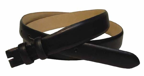 """Smooth Leather Belt Strap Taper 1 1/8"""" to 1"""" wide"""