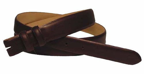 "Smooth Leather Belt Strap Taper 1 1/8"" to 1""wide"