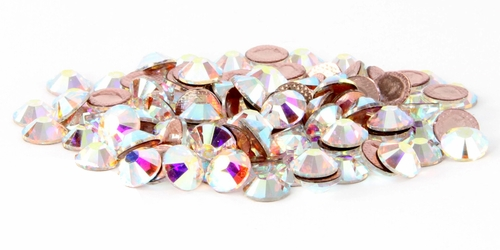 SS34 Swarovski Crystal AB Rhinestones 2038 Hot Fix 72pcs