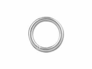 Sterling Silver Medium Closed Jump Ring (0.76x6mm)