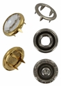Swarovski 1780/100 11mm Gold-Plated Flatback Snap Fastener